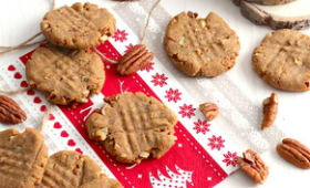 Cookie au beurre de cacahuète et noix de pécan