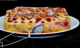 Gâteau crémeux aux framboises