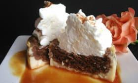Gâteau magique chocolat caramel