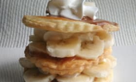 Mille-feuilles bananes et confiture de lait