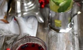 Tisane aux canneberges et épices