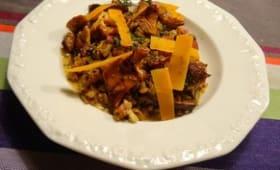 Risotto d'épeautre à la mimolette et jambon à l'os