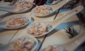 Cuillères apéritives au saumon fumé