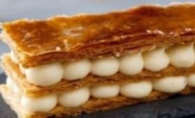 Millefeuille à la crème Chiboust Marrons