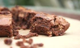 Brownie au chocolat citron et fleur de sel