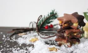 Biscuits chocolat fourrés à la marmelade de clémentines et de pommes