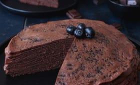 Gâteau de crêpes au chocolat intense