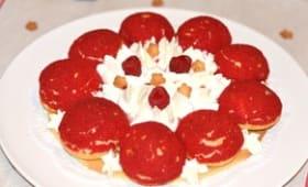 Saint Honoré rouge vanille et hibiscus
