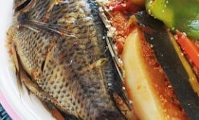 Couscous tunisien au poisson et légumes
