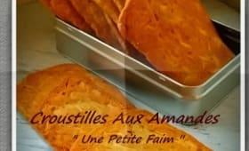 Croustilles aux amandes