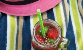 Caïpirinha basilic fraise rhubarbe