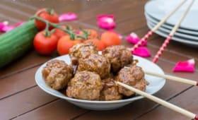 Boulettes de porc laquées à la sauce soja