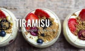 Tiramisu aux fruits rouges et spéculoos