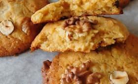 Cookies aux noix, noisettes et caramel