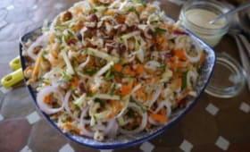 Salade de crozets aux crudités du jardin