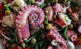Salade de poulpe et salicornes