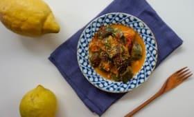Tajine de courgettes aux épices