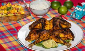 Poulet asado et salsa à la mangue