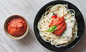 Sauce tomate relevée super facile