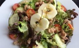 Salade fraîcheur au thon et à la pomme