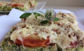 Pizza de courgettes gratiné au thon