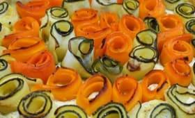 Tarte aux courgettes, carottes et Ricotta