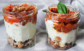 Tiramisu tomates mozza basilic
