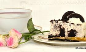 Cheesecake aux oréos.