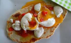 Flatbread aux oeufs et chutney de mangue de Jamie Oliver