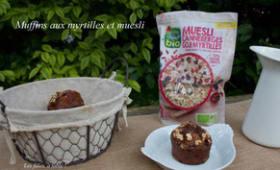 Muffins aux myrtilles et muesli