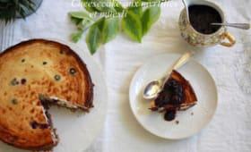 Cheesecake aux myrtilles et au muesli