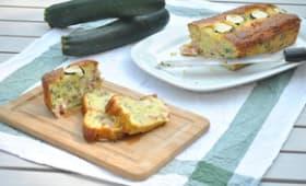 Cake courgettes lardons basilic