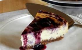 Cheesecake léger à la myrtille