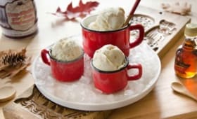 Crème glacée sirop d'érable sans sorbetière
