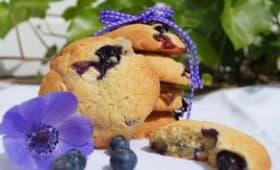Cookies aux myrtilles et au chocolat blanc