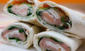 Wrap au saumon fumé et au chèvre frais
