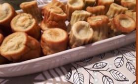 Cannelés au pesto et coeur de Mozzarella