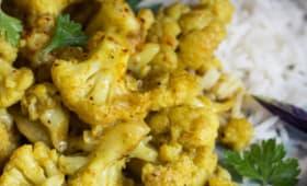 Curry de chou fleur au lait de coco