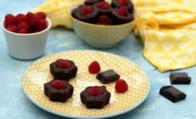 Mini fondant au chocolat et framboise