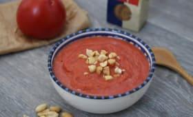 Soupe de tomates rôties à la cacahuète
