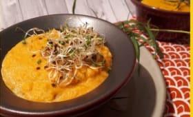 Flans de carottes à l'estragon