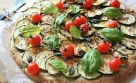 Pizza courgettes