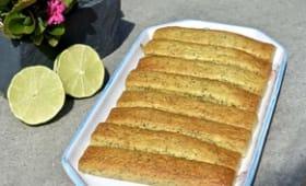 Gâteau citron vert et pavot