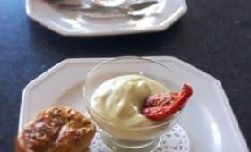 Crème de courgettes au chèvre et au basilic