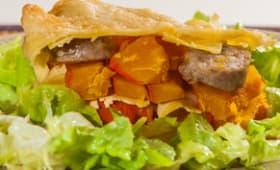 Lasagnes au potimarron et saucisses