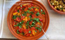 Tektouka, salade marocaine de tomates et poivrons