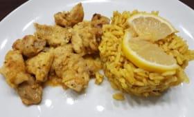 Poulet tandoori et son riz indien