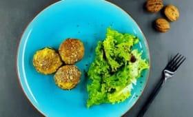 Champignons farcis au bleu et aux noix