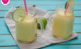 Smoothie citron-coco-mangue - Mason jar
