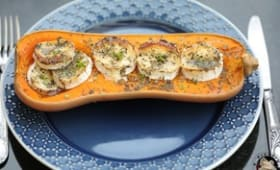 Courge butternut rôtie au fromage